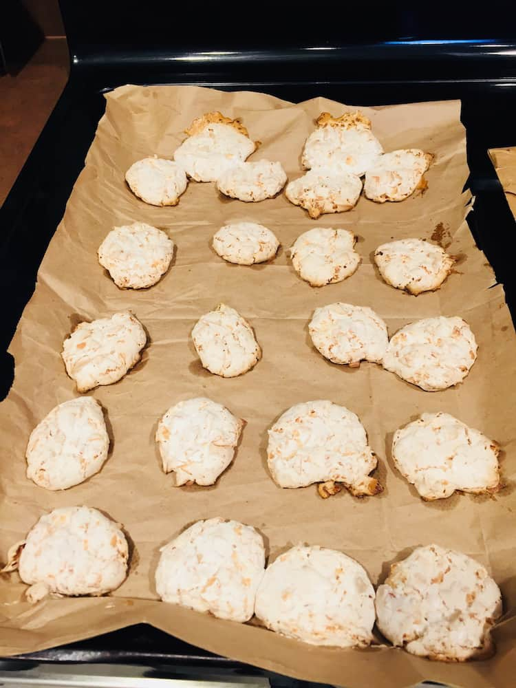 Brown paper is needed for baking Coconut Kiss Cookies.