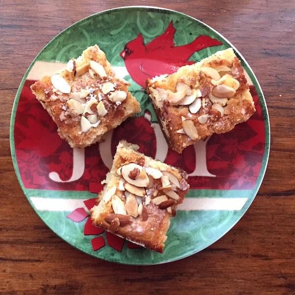 Gluten Free Cinnamon Almond Coffee Cake.
