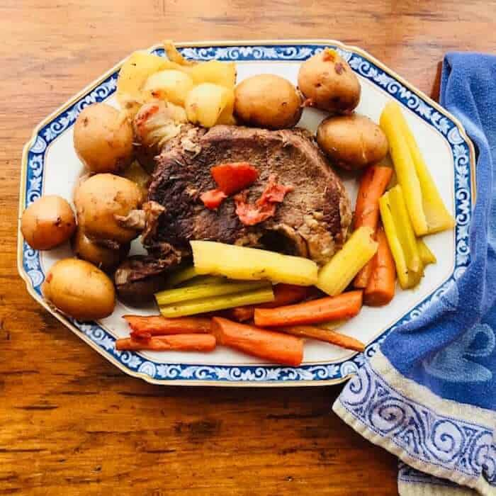 Don's Pot Roast is easy to make in a slow cooker.