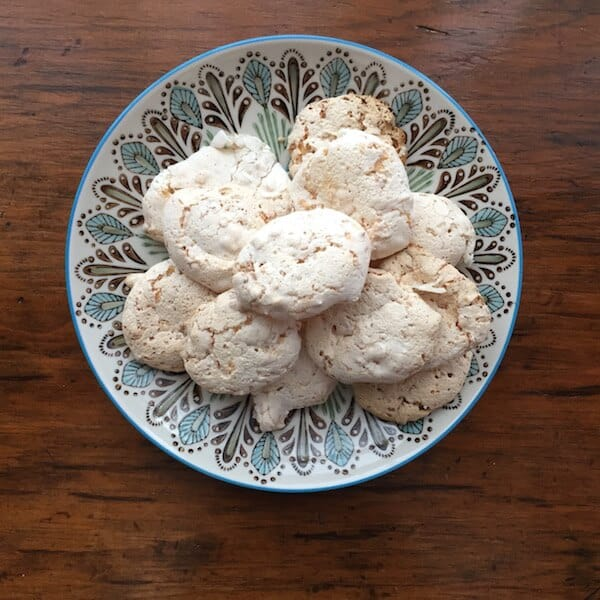 Coconut Kiss Cookies will surprise you because they melt in your mouth, are vegan and gluten free, and low in calories. Crispy and chewy, they are fabulous. #coconutkisscookies #vegan #glutenfree #cookies