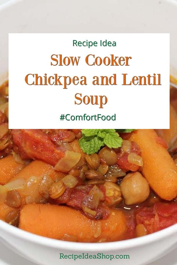 Chickpea Lentil Soup? Yes please. It's wicked good. #chickpea-lentil-soup #chickpeas #souprecipes #recipes #comfortfood #glutenfree #recipeideashop