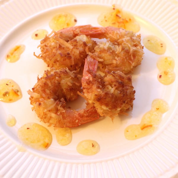 Gluten Free Coconut Shrimp is SO easy to make at home. Chewy, crispy deliciousness.