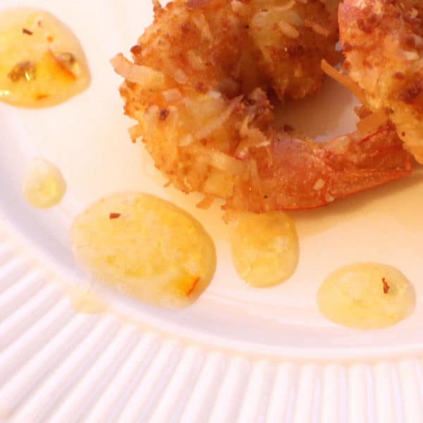 Coconut Shrimp Dip Sauce. Easy: 3 ingredients, 2 minutes. Spicy sweet.