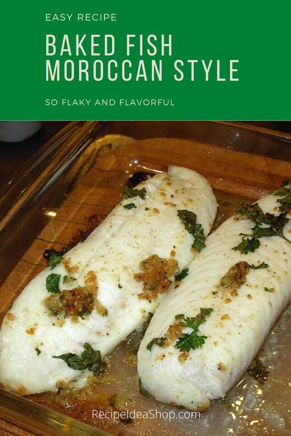 Moroccan Cumin Fish. Easy baked fish recipe. Flaky and flavorful. Simple recipe. #moroccancuminfish #bakedfish #healthybakedfish #fishrecipes #halal #easyrecipes #recipe-repertoire #glutenfree #recipes #recipeideashop