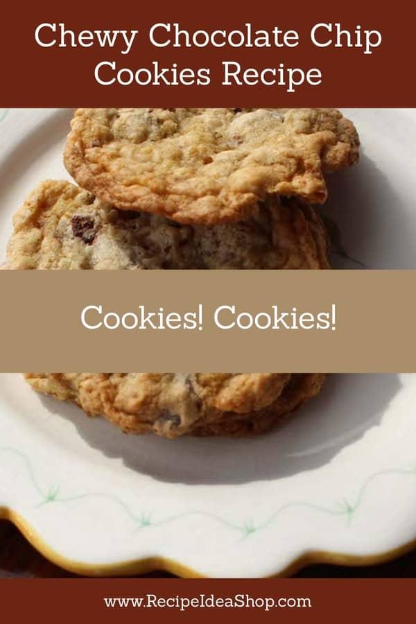 ChewyGluten Free Chocolate Chip Cookies Recipe. #myfavoritecookies #chocolatechipcookiesrecipe ##cookiesrecipes #glutenfree #recipes #recipeideashop