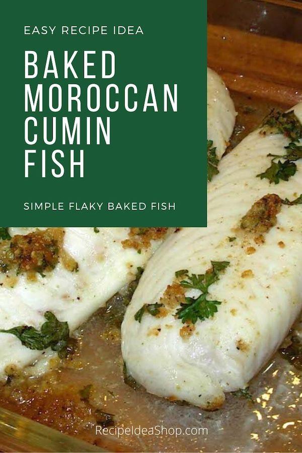Oh yum! This Moroccan Cumin Fish recipe is SO so good. Easy too! #moroccancuminfish #bakedfish #healthybakedfish #fishrecipes #halal #easyrecipes #comfortfood #glutenfree #recipes #recipeideashop