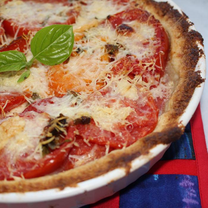 Gluten Free Tomato Basil Pie