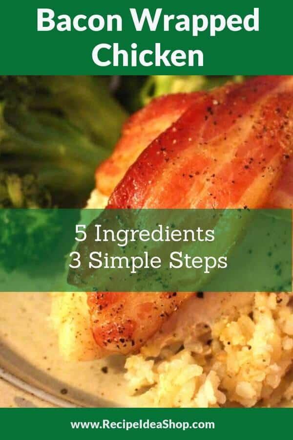 Bacon Wrapped Chicken. SO easy. Chicken, Bacon, a little oil, salt & pepper. #baconwrappedchicken #bacon #chickenrecipes #glutenfree #recipes #recipeideashop