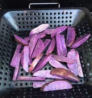 grilled purple potatoes