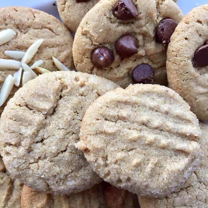 Homemade Peanut Butter Cookies are gluten free and melt in your mouth!