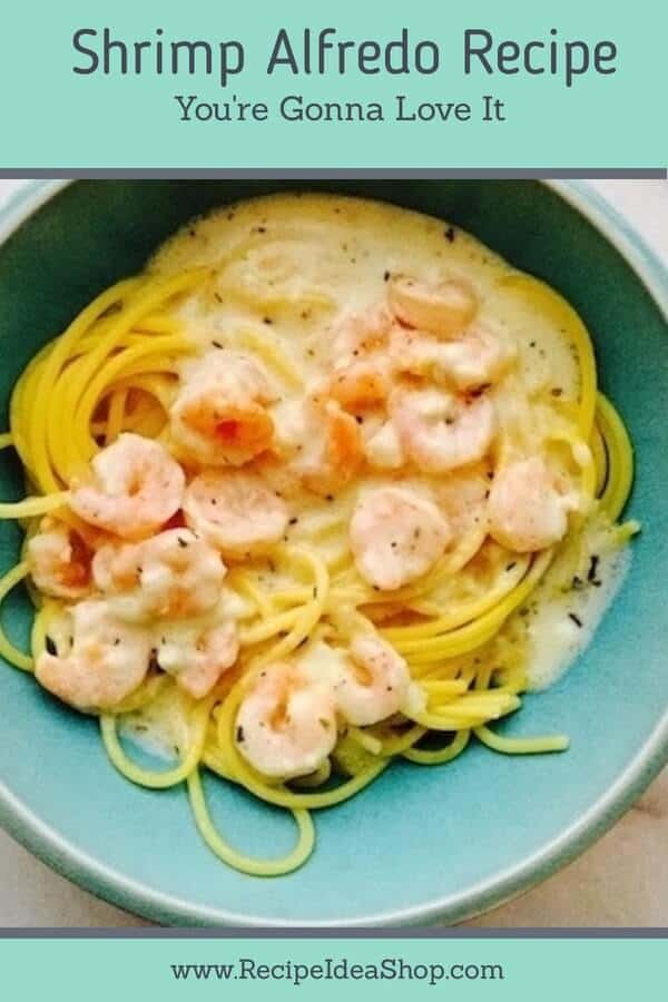 Easy Shrimp Alfredo. Super tasty and easy. #easyshrimpalfredorecipe #alfredorecipe #glutenfree #recipes #recipeideashop