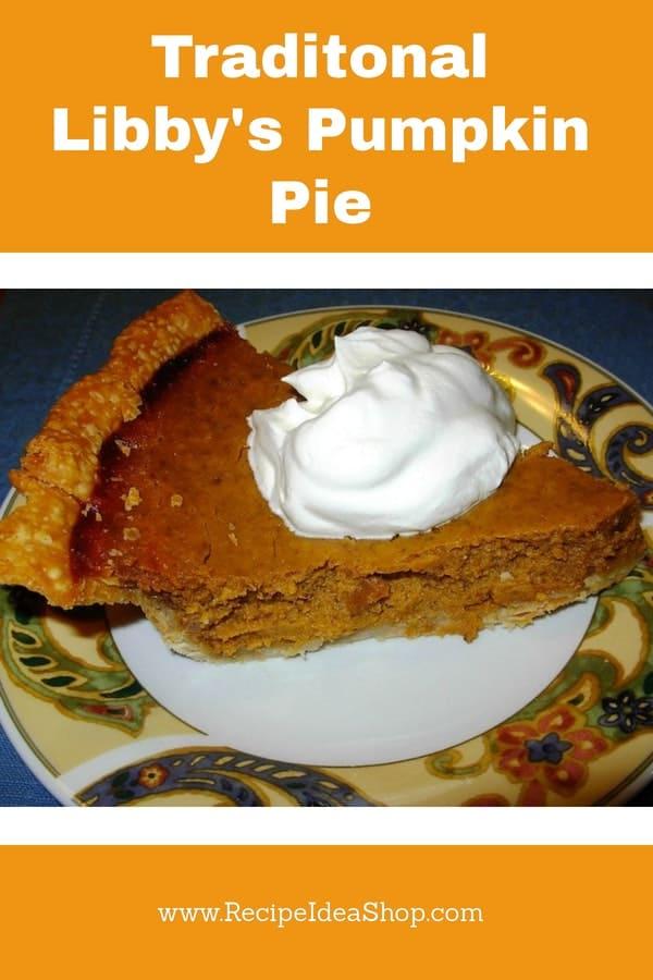 Traditional Pumpkin Pie. Yum! #Libbyspumpkinpie, #Libbys-pumpkin-pie, #pumpkin-pie-reciipe, #recipeideashop