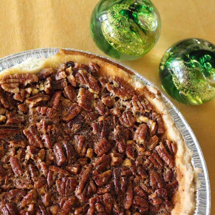Chocolate Pecan Pie (also known as Kentucky Derby Pie) is a rich pie.