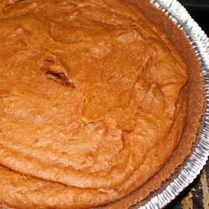 Sweet Potato Bourbon Pie