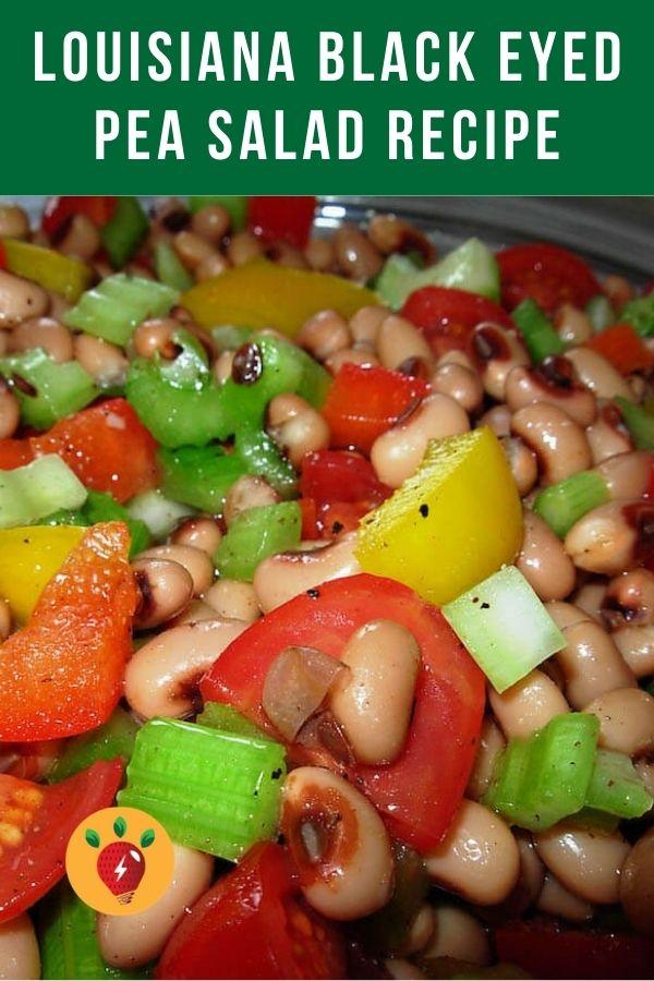 Louisiana Black Eyed Pea Salad. Oh, so good! Did you know black eyed peas are said to bring prosperity? #blackeyedpeasalad #louisianablackeyedpeas #blackeyedpeas #moosewood #comfortfood #vegan #salads #glutenfree #recipes #recipeideashop