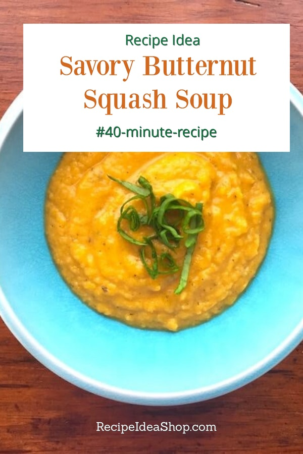 This Savory Butternut Squash Soup is my favorite squash soup. #butternutsquashsoup #savorybutternutsquashsoup #squashsoup #glutenfree #recipes #souprecipes #recipeideashop