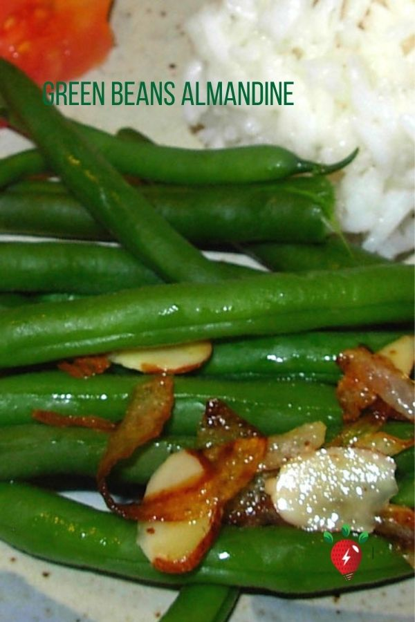 Anytime Green Beans Almandine. 20 minutes until you eat these delicious beans. #GreenBeansAlmandine #AlmandineGreenBeans #EasyRecipes #CookAtHome #Recipes #GlutenFree #HealthyTwist #RecipeIdeaShop