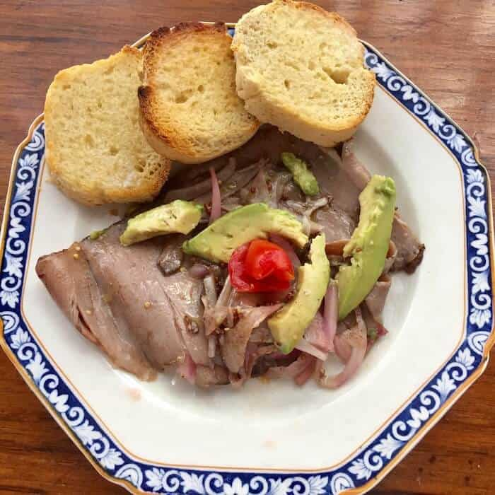 Marinated Beef with Avocado and Sliced Onions. OMG. So good.