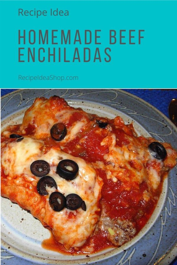 Homemade Beef Enchiladas? Yes please! #myfavoritebeefenchiladas #beefenchiladas #enchiladas #cinco-de-mayo #fiesta #cookathome #recipes #comfortfood #recipeideashop