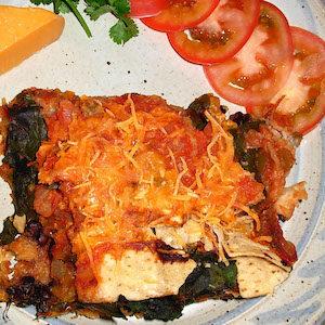 Black Beans Tortilla Chips Casserole. Yum!