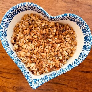 Easy Green Lentil Quinoa Salad Recipe (vegan, gluten free)