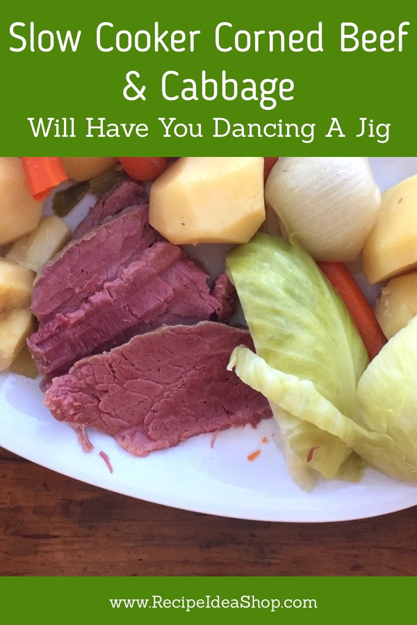 Slow Cooker Corned Beef. Get your Irish on. So easy. #slowcookercornedbeef #cornedbeefdinner #cornedbeef #slowcooker #recipes #glutenfree #recipeideashop