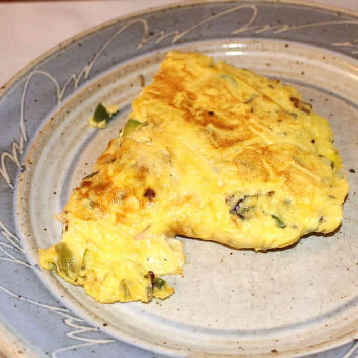 Smoked salmon omelet full of flavor