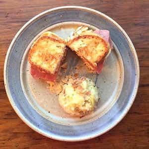 Halloumi Corned Beef Reuben Sandwich