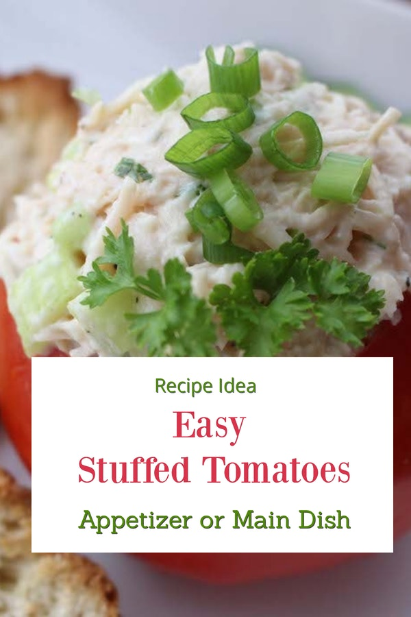Easy Stuffed Tomatoes. Great appetizers. And so tasty. #stuffedtomatoes #stuffedtomato #appetizers #glutenfree #comfortfood #recipes #recipeideahsop