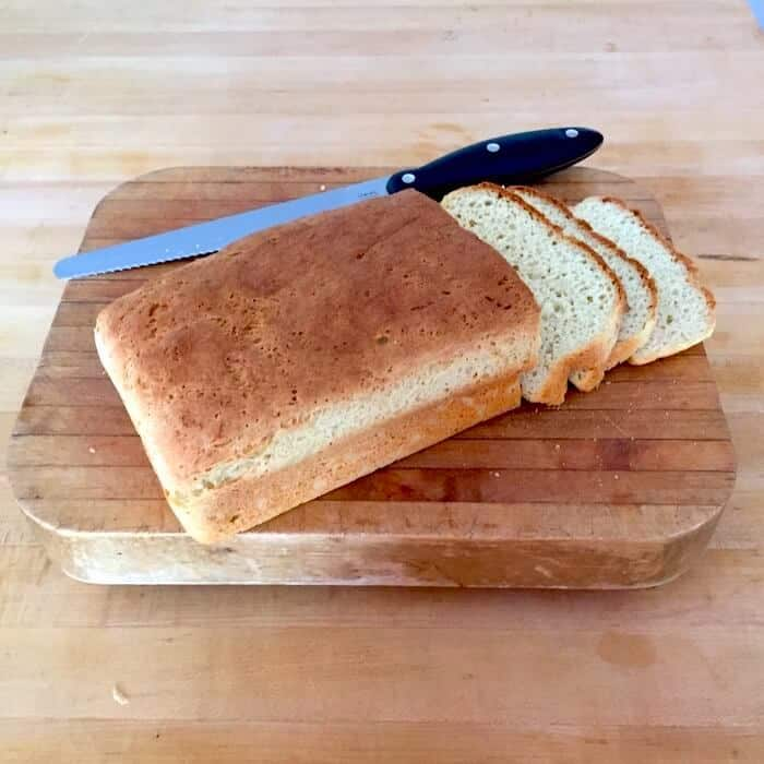 Gluten Free White Bread loaf. Look at how amazing this looks!