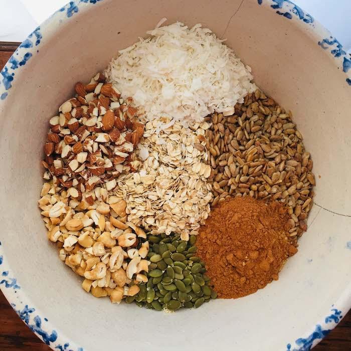 Granola dry ingredients