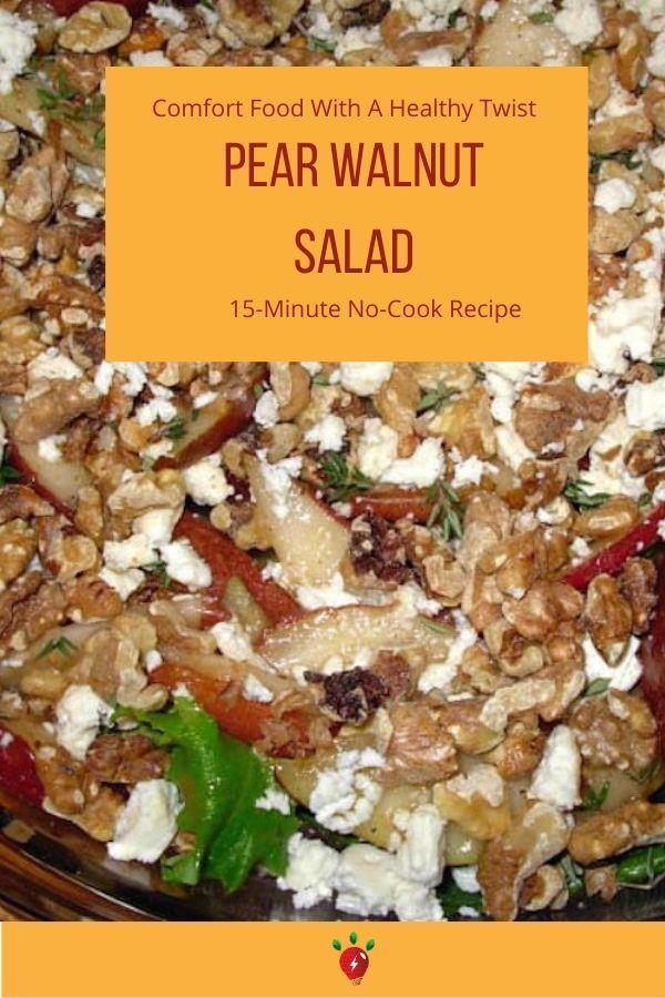Pear Walnut Salad with Figgy Dressing #pearandwalnutsalad #pears #pearsalad #recipes #salads #glutenfree #recipeideashop