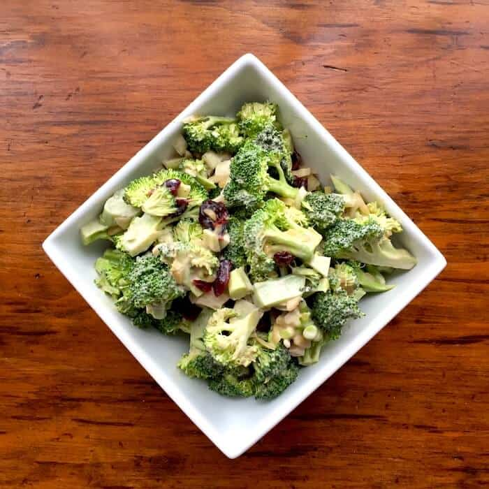 Broccoli Salad is quick to make and a favorite in our house.