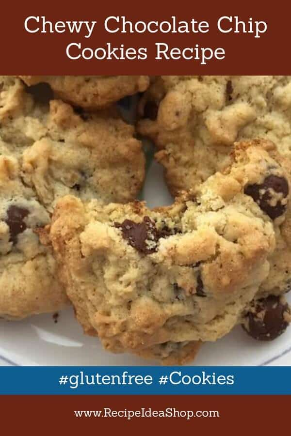 Chewy Gluten Free Chocolate Chip Cookies Recipe. If you tell them they are gluten free, you can keep them to yourself. #chewyglutenfreechocolatechipcookiesrecipe #chewychocolatechipcookies #cookies #cookiesrecipes #chocolatechipcookies #glutenfree #recipes #recipeideashop