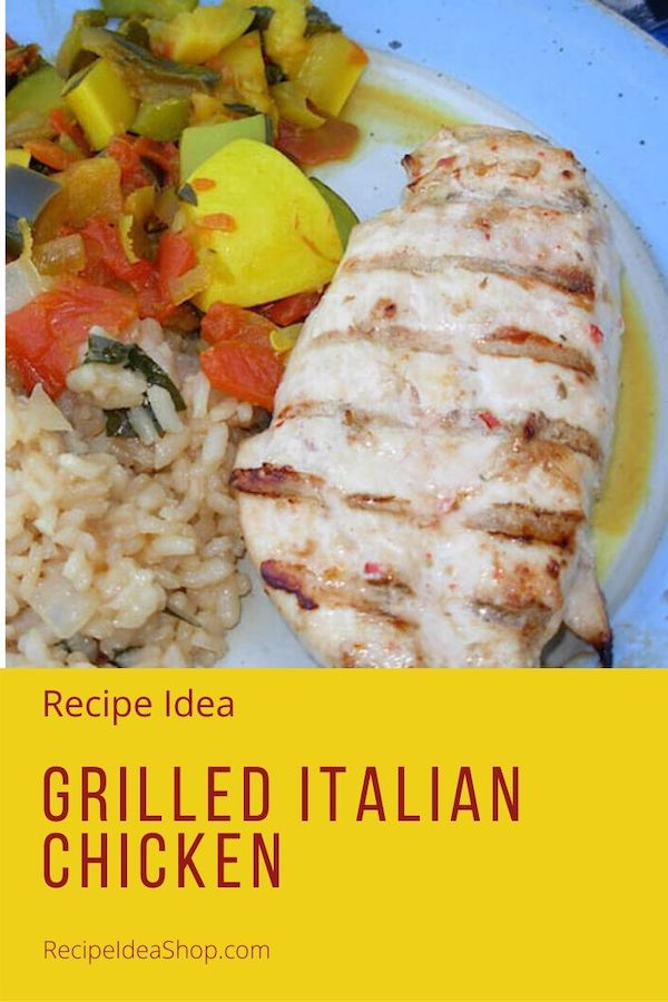 Grilled Italian Chicken. Only 2 Ingredients? Yes, please! #italianchicken #italian-chicken #chicken #learntocook #cookathome #yougotthis #recipes #easyrecipes #food #health #comfortfood #recipeideashop