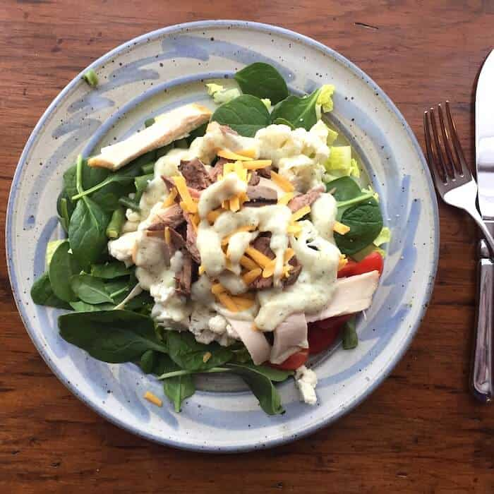 Chef Salad with Avocado Salad Dressing recipe
