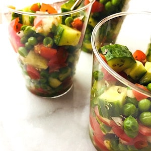 Pea Cuke Salad. Yum!