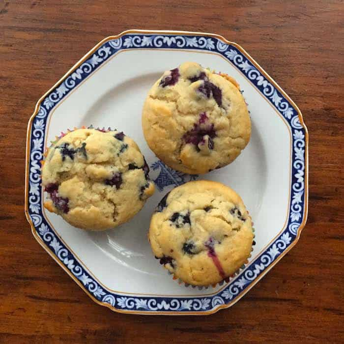 Simple, 30-minute recipe for my Favorite Blueberry Muffins, and they are gluten free.