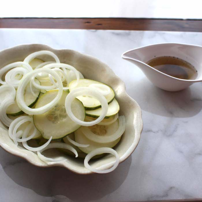Donna's Cucumber and Onion Salad is perfect for a picnic or carry-in lunch.