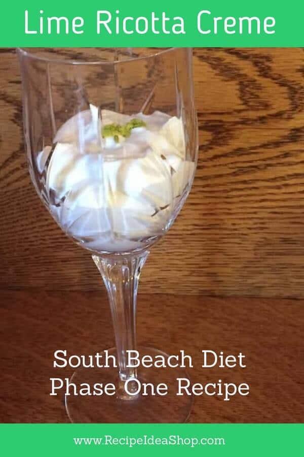 South Beach Lime Ricotta Creme. Phase One South Beach Diet Recipe. So good. #southbeachlimericottacreme #south-beach-ricotta-creme #southbeach #south-beach-phase-one #desserts #recipes #recipeideashop