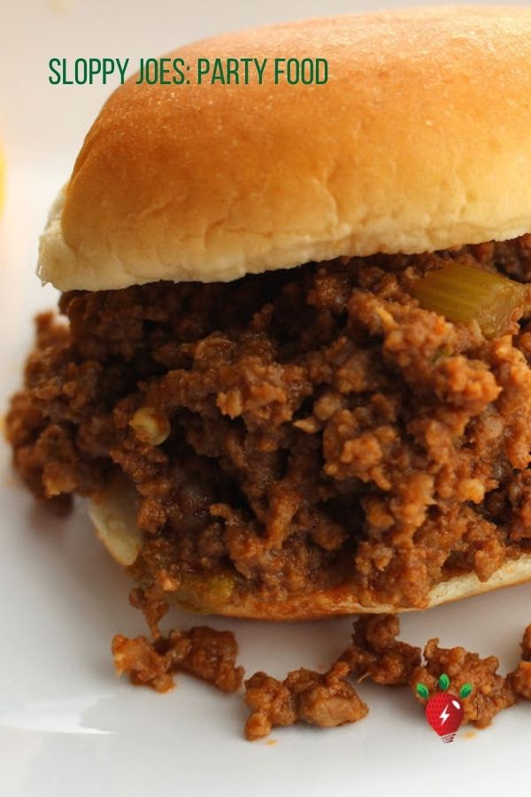 Sloppy Joes are perfect for parties or every day. You can be eating them in 30 minutes. #sloppyjoes #partyfood #4thofJuly #recipes #cookathome #30minutemeal #recipes #glutenfree #healthytwist #comfortfood #RecipeIdeaShop