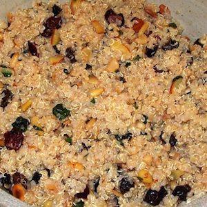 Quinoa Fruit Nut Salad, a complete meal