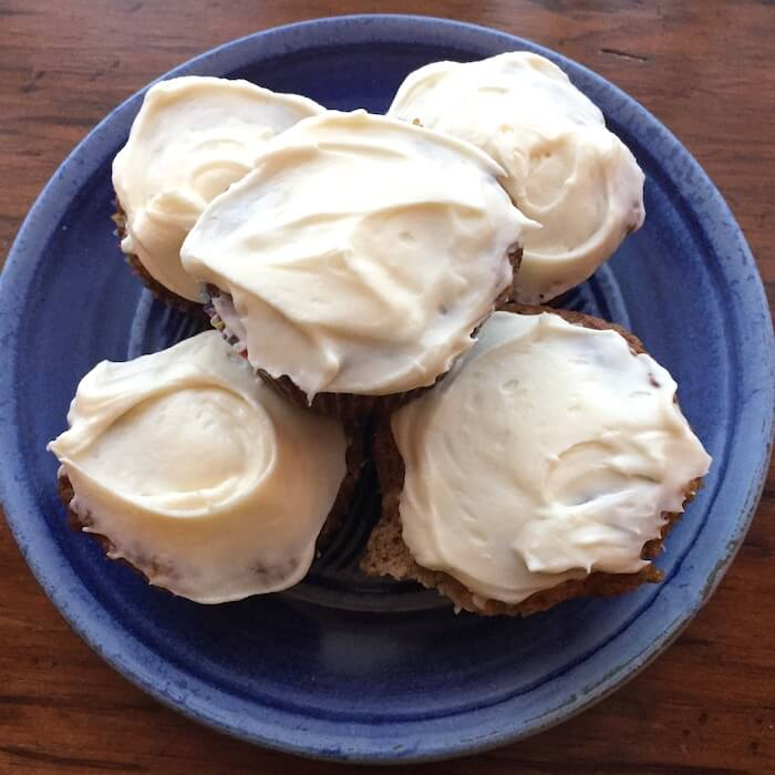 Freeze frosted cupcakes, wrapped individually. They thaw in 15 minutes!