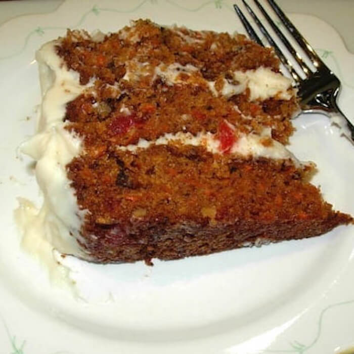 "The Best Carrot Cake (Gluten Free) is so delicious. My husband calls it his ""favorite vegetable!"""