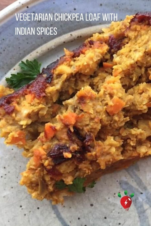 Vegetarian Chickpea Loaf with Indian Spices is to-die-for. SO, so flavorful. #VegetarianChickpeaLoaf #IndianCooking #GlutenFree #Vegan #HealthyTwist #RecipeIdeaShop