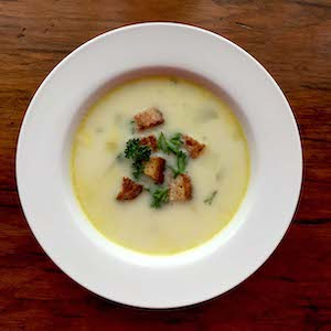 Leek and Potato Soup. Yum!