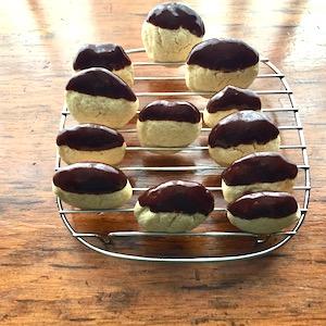 Gluten Free Danish Sugar Cookies, dipped in chocolate