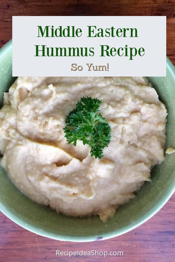 Authentic Middle Eastern Hummus is super good. 10-minute recipe. #authenticmiddleeasternhummus #hummus-recipe #glutenfree #vegan #appetizers #dips #snacks #comfortfood #recipes #recipeideashop