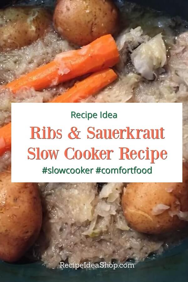 Ribs & Sauerkraut, a good down home slow cooker recipe purportedly brings prosperity in the new year. #ribs-sauerkraut #slowcookerrecipes #comfortfood #rainydayrecipes #glutenfree #recipes #recipeideashop