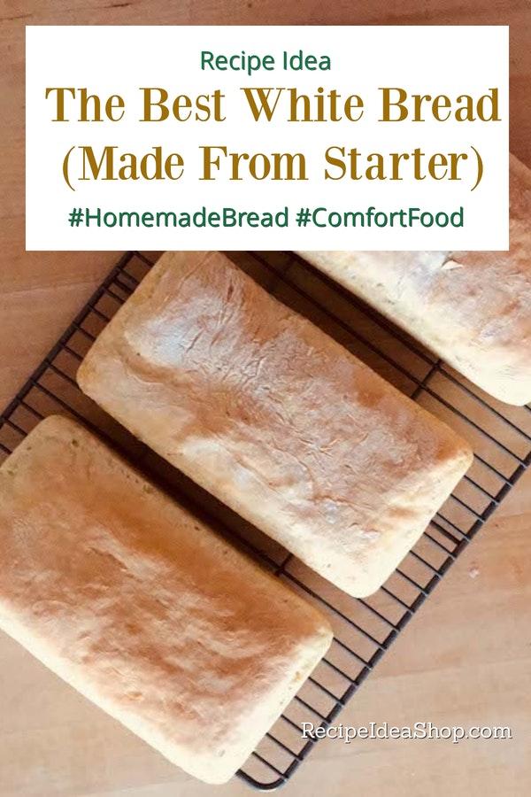 Loaves of the Best Basic White Bread. This bread is so good. #bestbasicwhitebread #bestbreadrecipe #whitebreadrecipe #homemadebread #recipes #comfortfood #recipeideashop